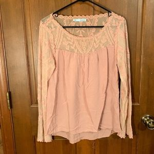 Maurices Pink Lace Top